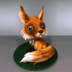 3D Fox Cake - Cake by Serdar Yener | Yeners Way - Cake Art Tutorials
