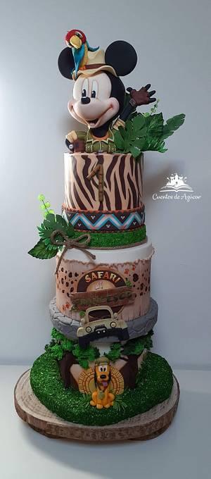 Mickey Mouse Safari - Cake by Melissa Ramirez