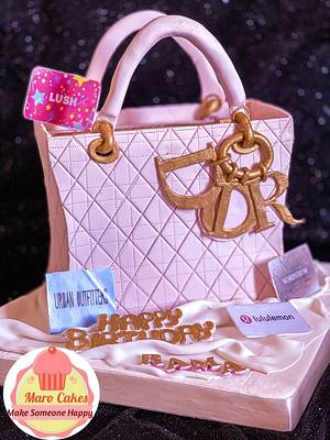 Dior bag cake - Cake by Maro Cakes