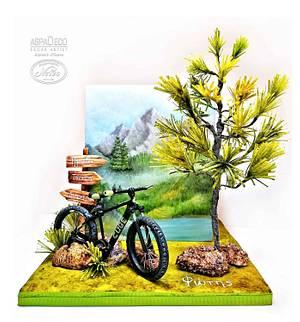 """Mountain Bike"" - Cake by Aspasia Stamou"