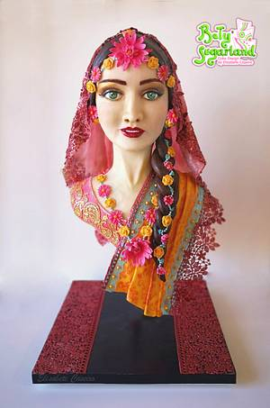 Elina - Magnificent Bangladesh collaboration - Cake by Bety'Sugarland by Elisabete Caseiro