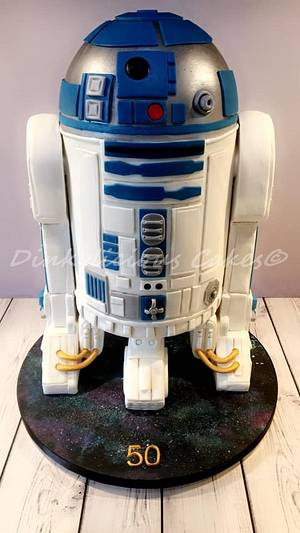 R2D2 Talking Cake - Cake by Dinkylicious Cakes