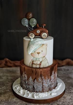 Vintage Bear Cake - Cake by Sihirli Pastane