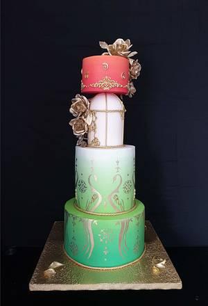 Indian Culture Competition - Wedding cake  - Cake by Radoslava Kirilova (Radiki's Cakes)