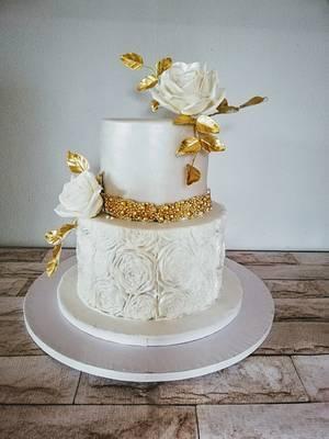 Wedding gold - Cake by alenascakes