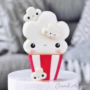 Cute Popcorn Cake Topper - Cake by Crumb Avenue