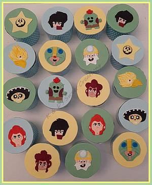 Brawl stars and monogram cupcakes  - Cake by Konstantina - K & D's Sweet Creations