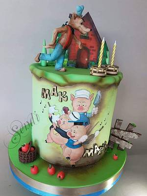 The Three Little Pigs - Cake by Sendi