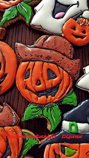Halloween gingerbread cookies - Cake by Fondantfantasy