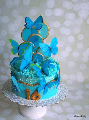 Mariam's sweet 16th birthday cake - Cake by Sweet Dreams by Heba