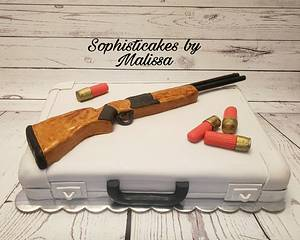 Browning Shotgun Grooms Cake  - Cake by Sophisticakes by Malissa