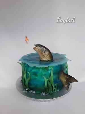 Fishing cake  - Cake by Layla A
