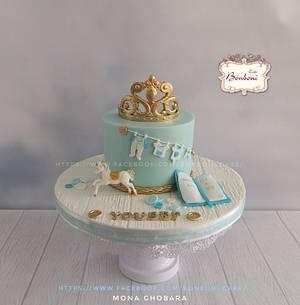 baby shower cake - Cake by mona ghobara/Bonboni Cake
