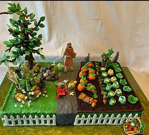 Bible Cake Collaboration - Parable of the Sower - Cake by Julia