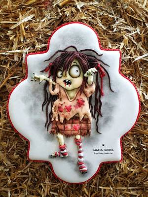 Spooky Zombie girl.... - Cake by The Cookie Lab  by Marta Torres