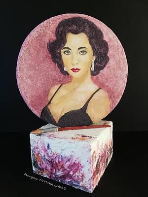 Homage to Elizabeth Taylor - Cake by Angela Natale