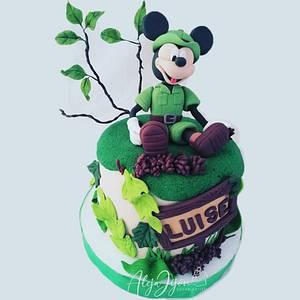 Mickey mouse safari - Cake by Aleja Jijón