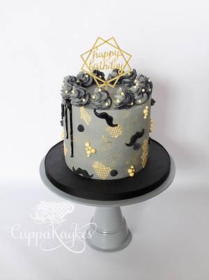 Textured Grey Buttercream Drip Cake - Cake by Kaylu