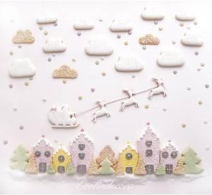 Christmas cookie landscape - Cake by Evelindecora