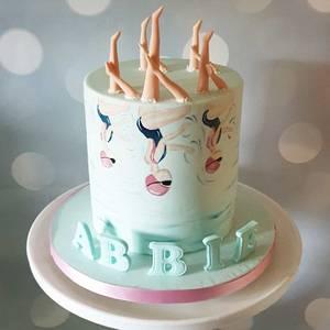 Painted Swim Cake - Cake by Victoria - Cherrylicious Cakes