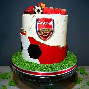 Arsenal Cake - Cake by Radoslava Kirilova (Radiki's Cakes)