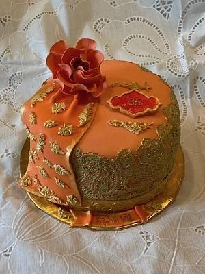 SARI CAKE FOR CORAL ANNIVERSARY - Cake by Julia