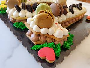 Eleonora cream tart + mini cream tart  - Cake by CupClod Cake Design