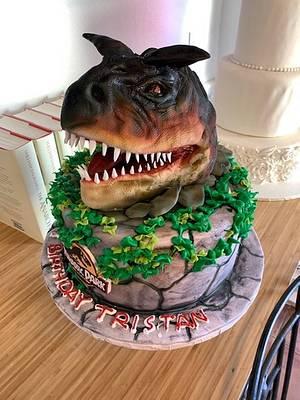 Carnotaurus sculpture - Cake by tvbhouston
