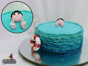 Proud Swimmer Cake - Cake by Simmz