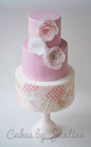 Wafer paper cake - Cake by Cakes by Jantine
