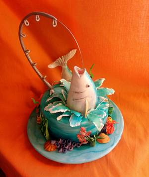 Let's go fishing - Cake by Elza