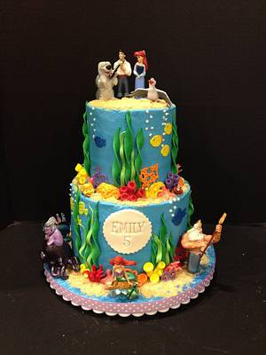 Little Mermaid Under the Sea Cake - Cake by Woodcakes