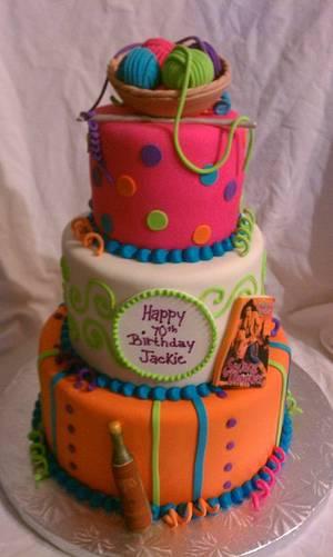 70th Birthday - Cake by cakesbymichelle