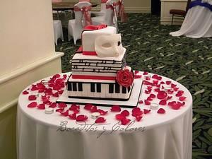 Phantom of the Opera - Cake by Erika Valverde