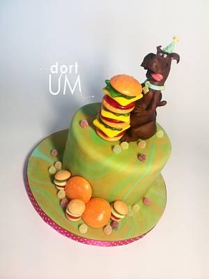 Scooby Doo loves hamburgers :D - Cake by dortUM