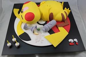 Pikachu 21st birthday  - Cake by Kake Krumbs