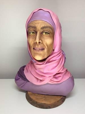 Desert woman.collab spectacular pakistan. - Cake by secretos verde violeta