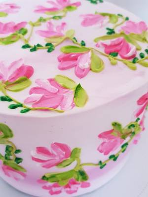 Pink glory - Cake by Sugar cottage by pooja