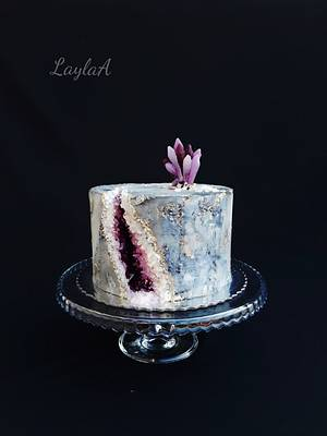 Amethyst geode  - Cake by Layla A