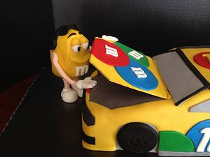 Race car m&ms  - Cake by Woodcakes