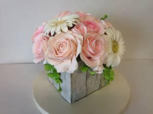 Pastel sugar flowers, Flores de azucar - Cake by Simply Sweet Shop