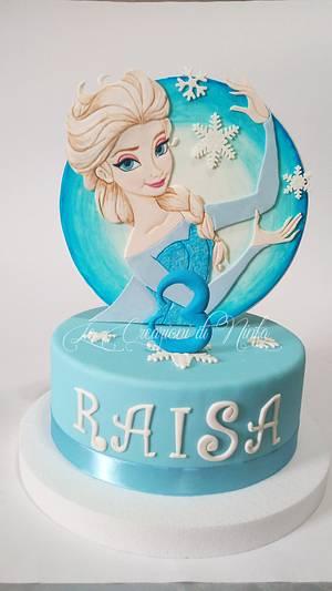 Elsa Frozen 2D cake topper - Cake by Le Creazioni di Ninfa - Ninfa Tripudio