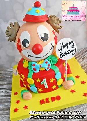 clown cake 🎊 - Cake by Mero Wageeh