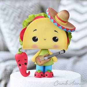 Cute Taco Cake Topper - Cake by Crumb Avenue