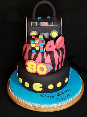 80's Themed Cake - Cake by Creative Designs By Cass
