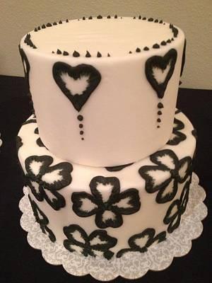 black and white cake lace - Cake by Samantha Corey