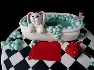 Bathtime Bunny - Cake by Extra Mile Icing