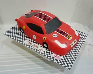 Ferrari in Cream  - Cake by Michelle's Sweet Temptation
