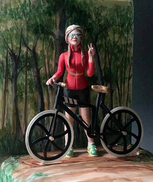 mountain cycling  - Cake by Dsweetcakery