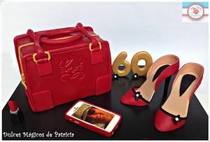 loewe handbag and shoes - Cake by Dulces Mágicos de Patricia
